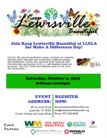 Keep Lewisville Beautiful Make A Difference Day
