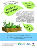 Keep Lewisville Beautiful Garden Class on Gardening in Small Spaces