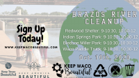 Keep Waco Beautiful Quarterly Brazos River Cleanup