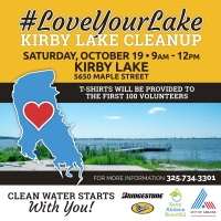 Abilene #LoveYourLake Lake Kirby Park Clean-up
